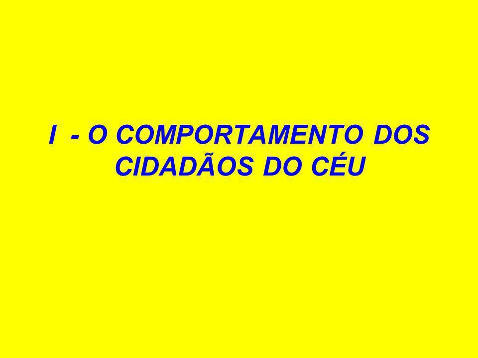 I - O COMPORTAMENTO DOS CIDADÃOS DO CÉU