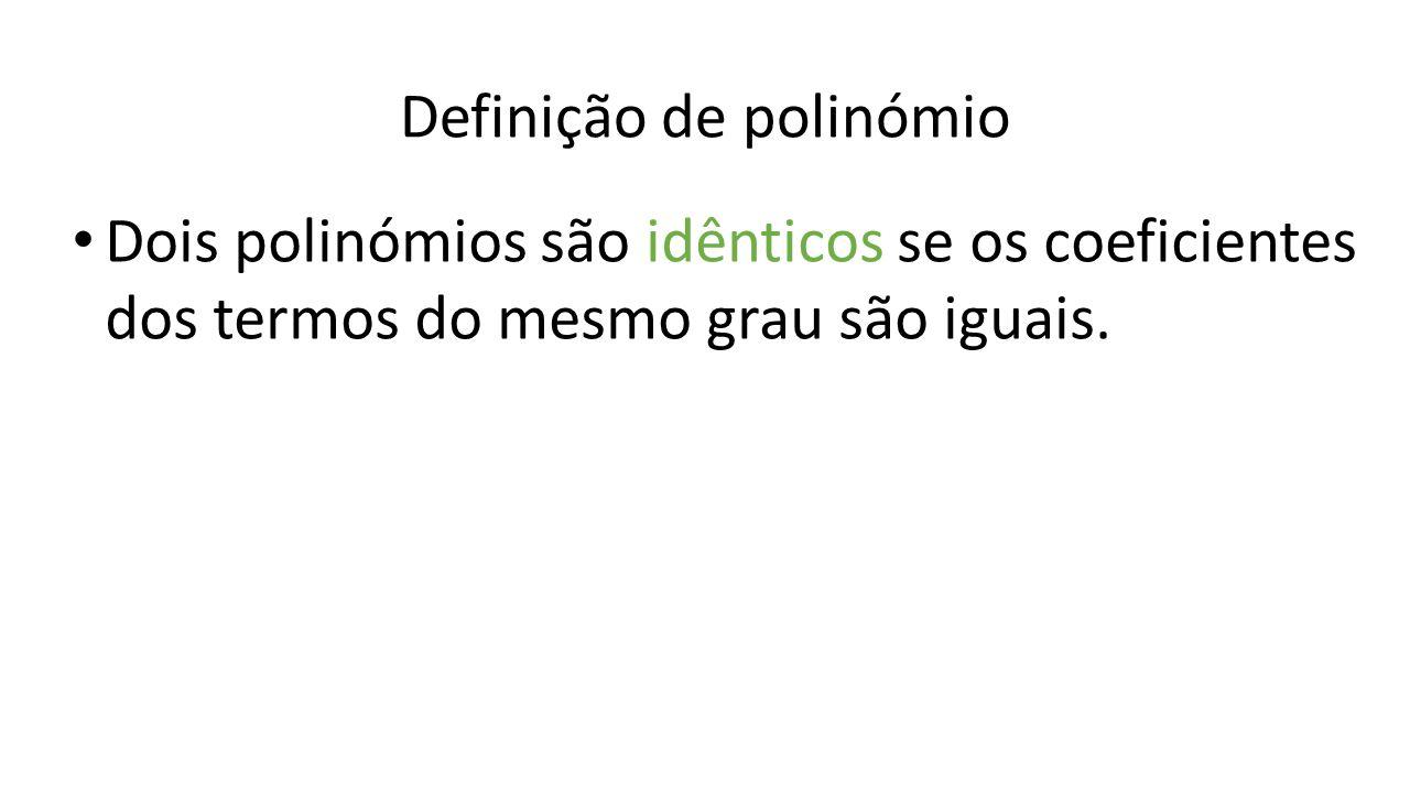 Definição de polinómio