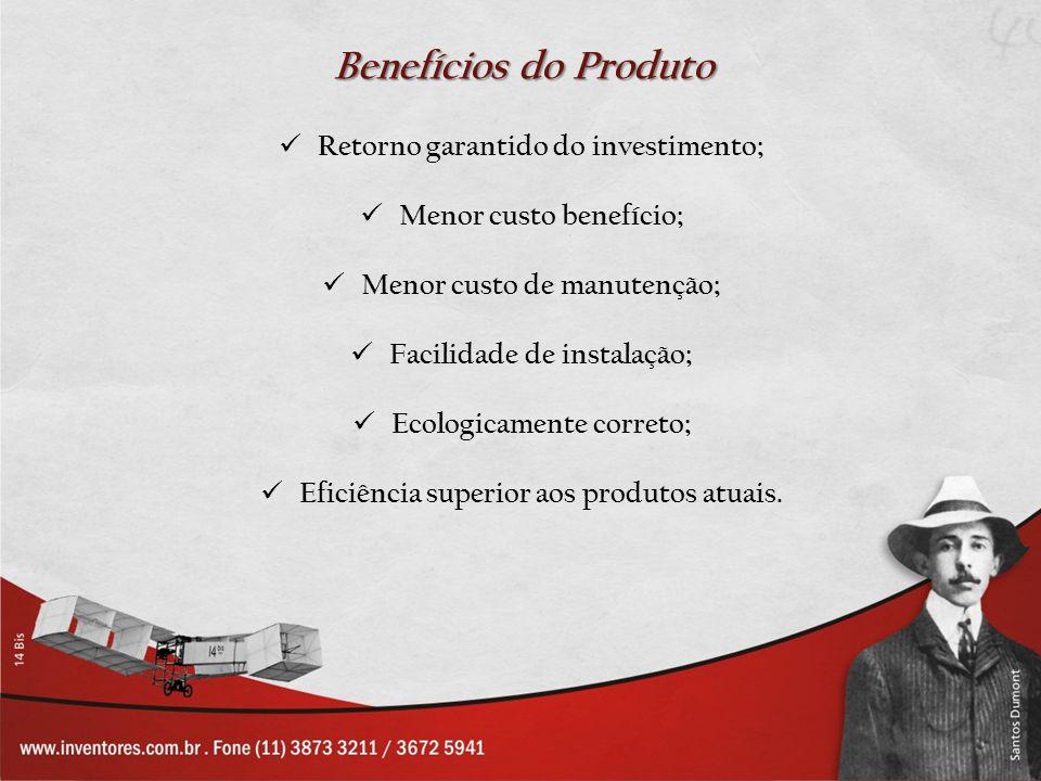 Benefícios do Produto Retorno garantido do investimento;