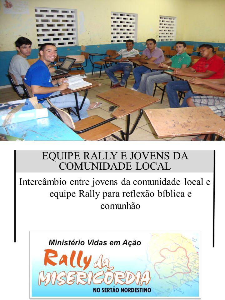 EQUIPE RALLY E JOVENS DA COMUNIDADE LOCAL