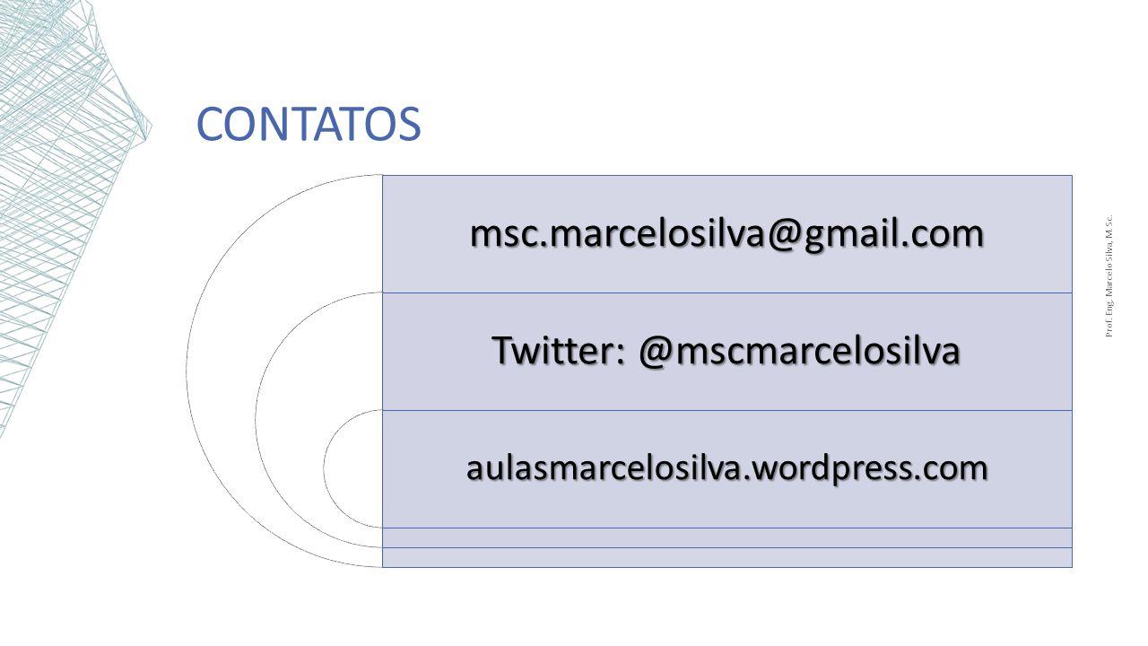 Contatos msc.marcelosilva@gmail.com Twitter: @mscmarcelosilva