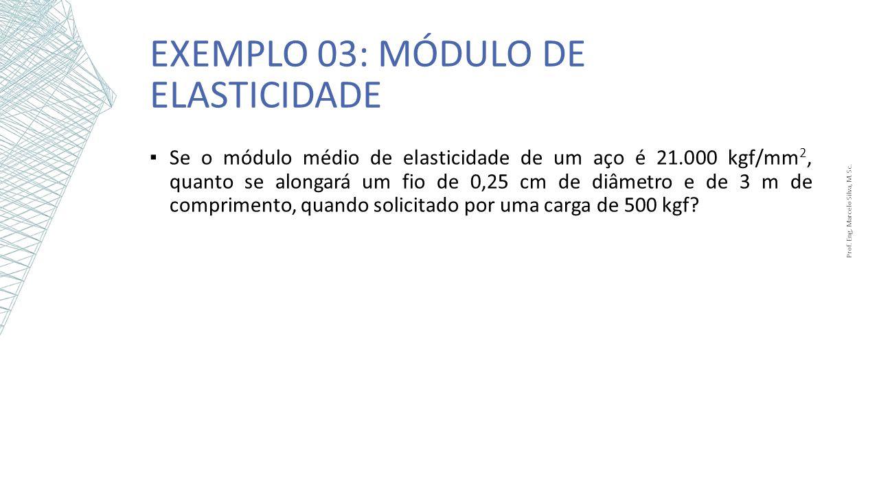 Exemplo 03: Módulo de Elasticidade