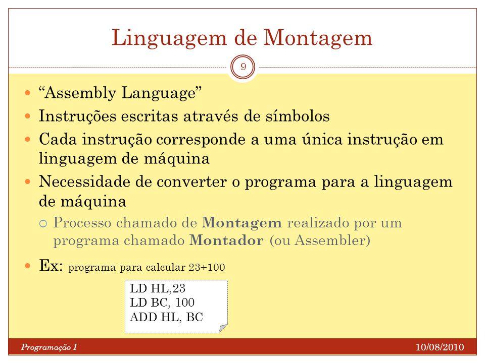 Linguagem de Montagem Assembly Language