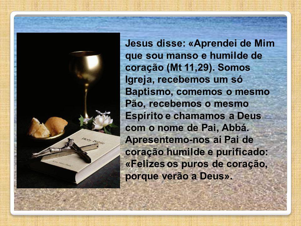 Jesus disse: «Aprendei de Mim que sou manso e humilde de coração (Mt 11,29).