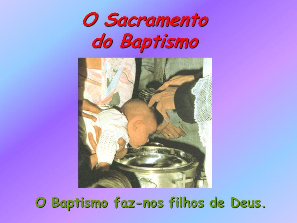 O Sacramento do Baptismo