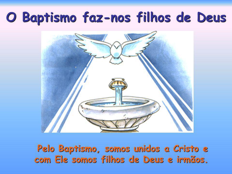 O Baptismo faz-nos filhos de Deus