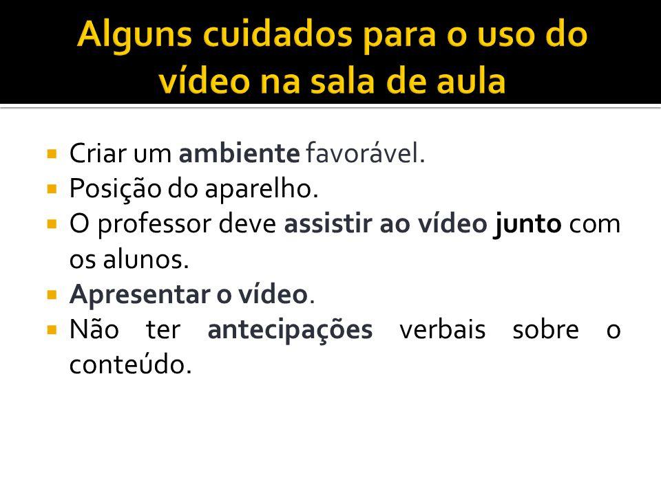 Alguns cuidados para o uso do vídeo na sala de aula