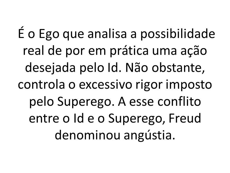 É o Ego que analisa a possibilidade real de por em prática uma ação desejada pelo Id.