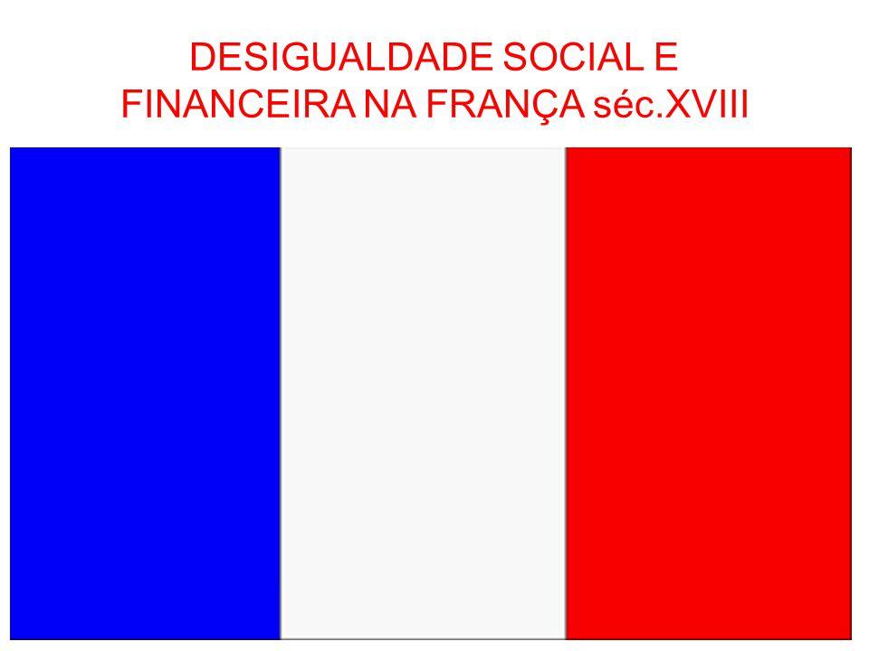 DESIGUALDADE SOCIAL E FINANCEIRA NA FRANÇA séc.XVIII