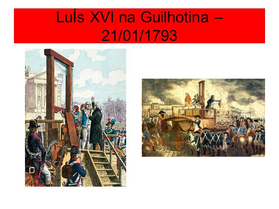 LuÍs XVI na Guilhotina – 21/01/1793