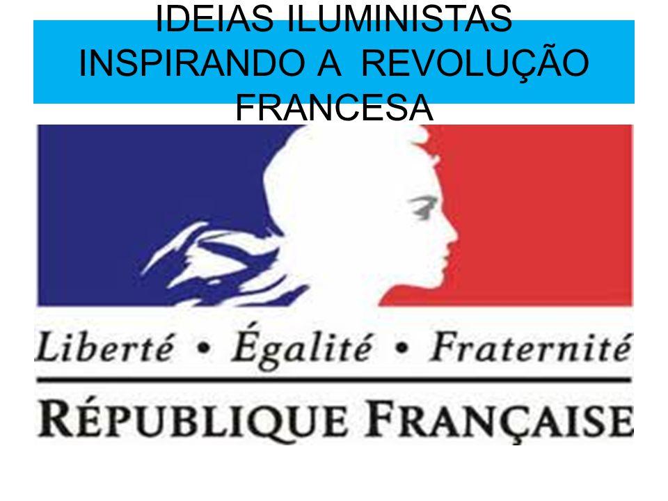 IDEIAS ILUMINISTAS INSPIRANDO A REVOLUÇÃO FRANCESA