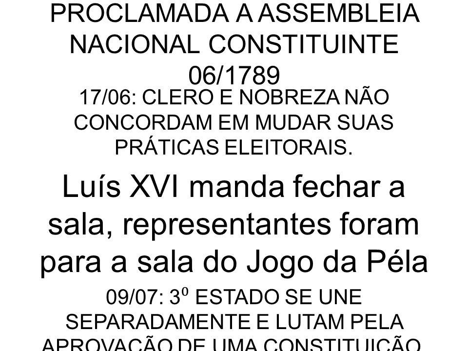 PROCLAMADA A ASSEMBLEIA NACIONAL CONSTITUINTE 06/1789