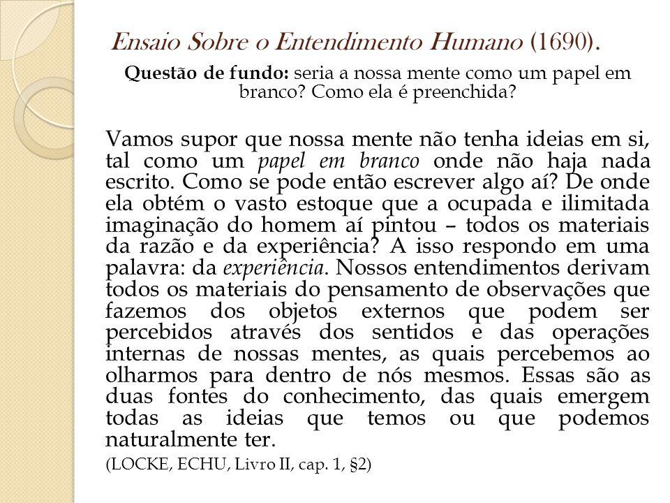 Ensaio Sobre o Entendimento Humano (1690).