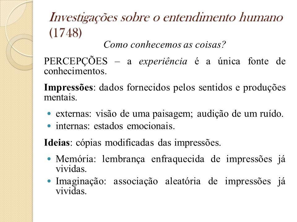 Investigações sobre o entendimento humano (1748)