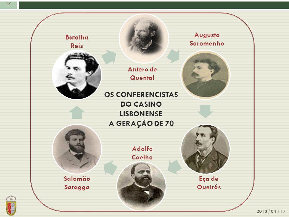 OS CONFERENCISTAS DO CASINO LISBONENSE