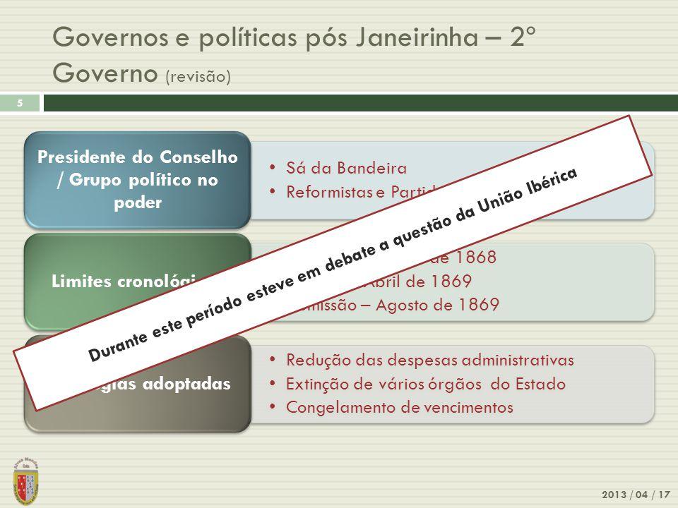 Governos e políticas pós Janeirinha – 2º Governo (revisão)