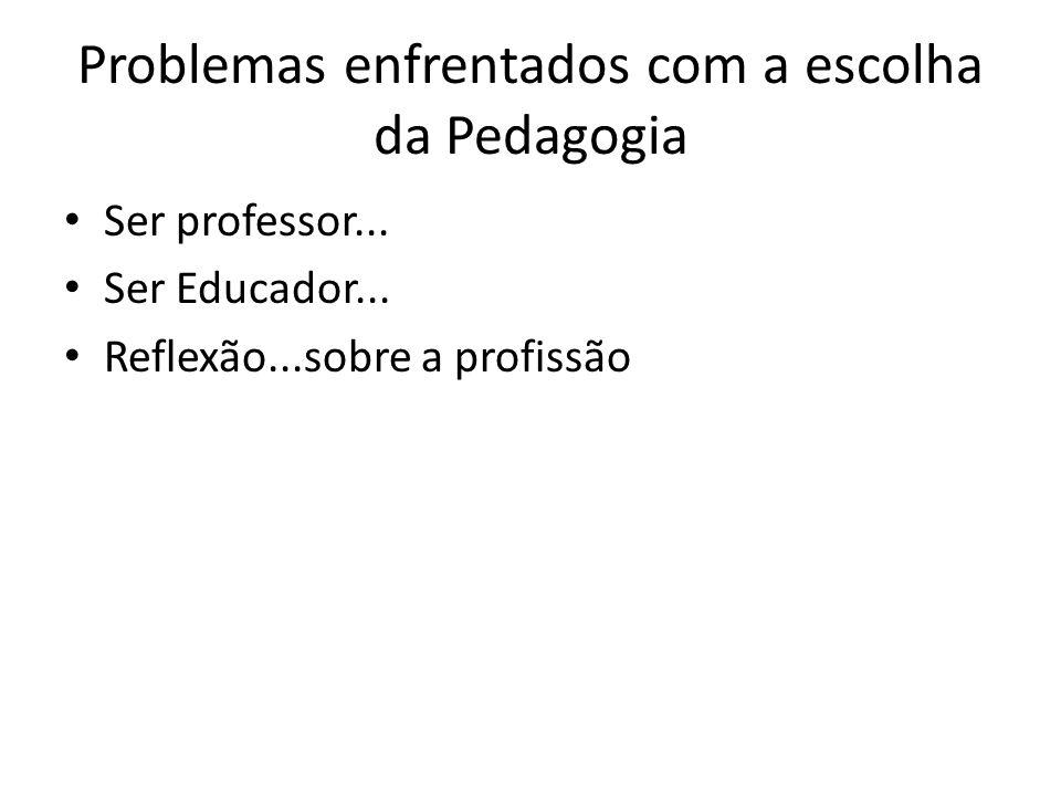 Problemas enfrentados com a escolha da Pedagogia