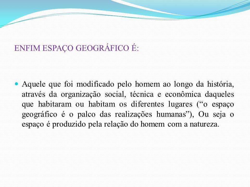 ENFIM ESPAÇO GEOGRÁFICO É: