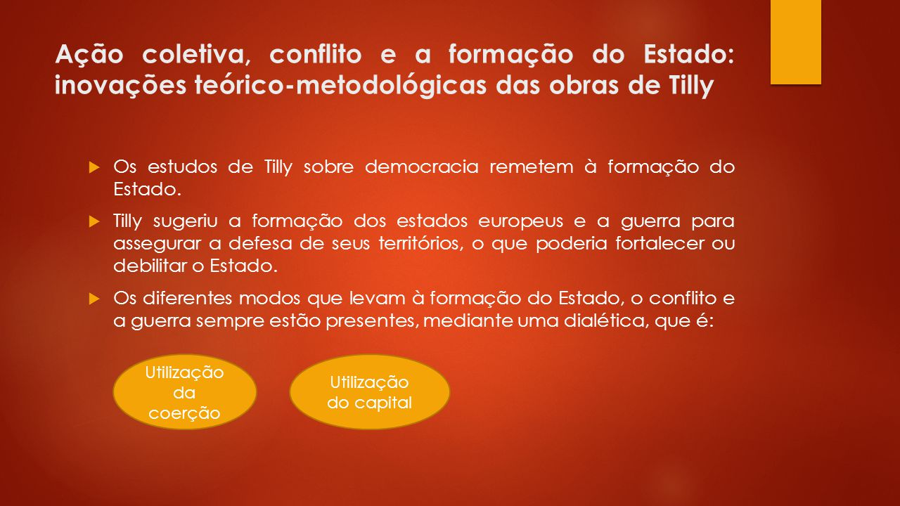 Ação coletiva, conflito e a formação do Estado: inovações teórico-metodológicas das obras de Tilly