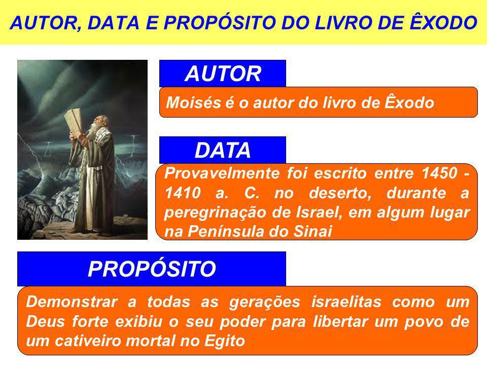 AUTOR, DATA E PROPÓSITO DO LIVRO DE ÊXODO