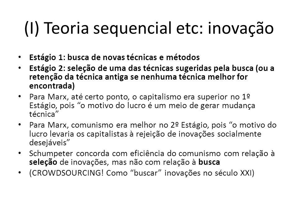 (I) Teoria sequencial etc: inovação