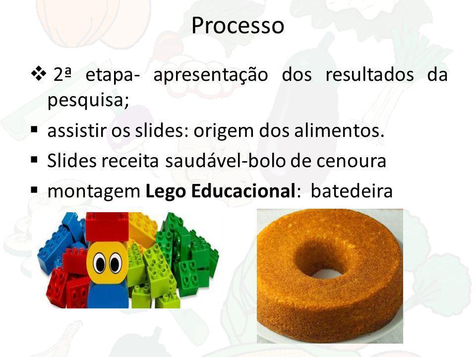 Processo 2ª etapa- apresentação dos resultados da pesquisa;
