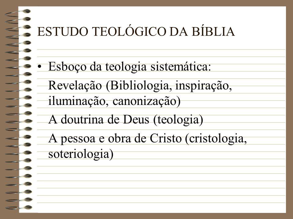 ESTUDO TEOLÓGICO DA BÍBLIA