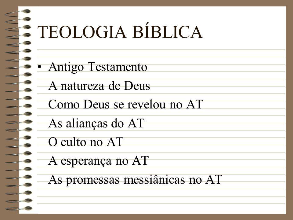 TEOLOGIA BÍBLICA Antigo Testamento A natureza de Deus