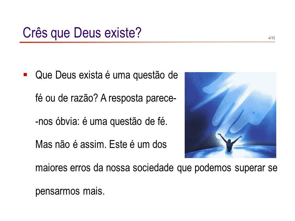 Eu não tenho fé na existência de Deus