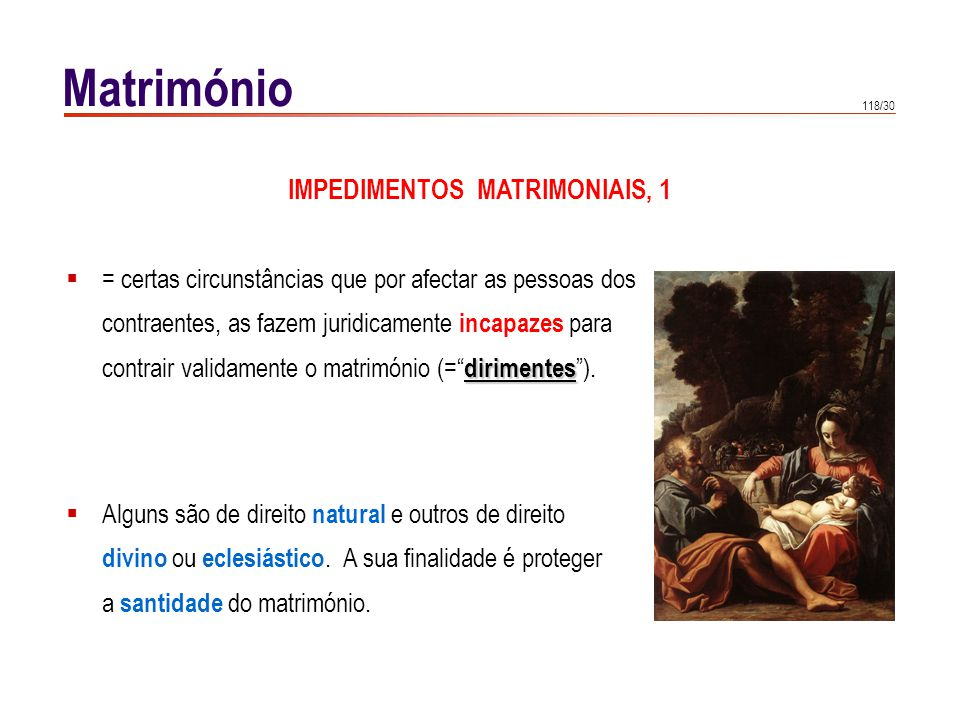 IMPEDIMENTOS MATRIMONIAIS, 2 a
