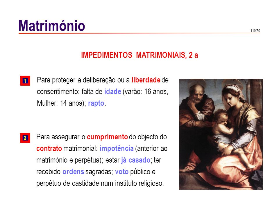 IMPEDIMENTOS MATRIMONIAIS, 2 b