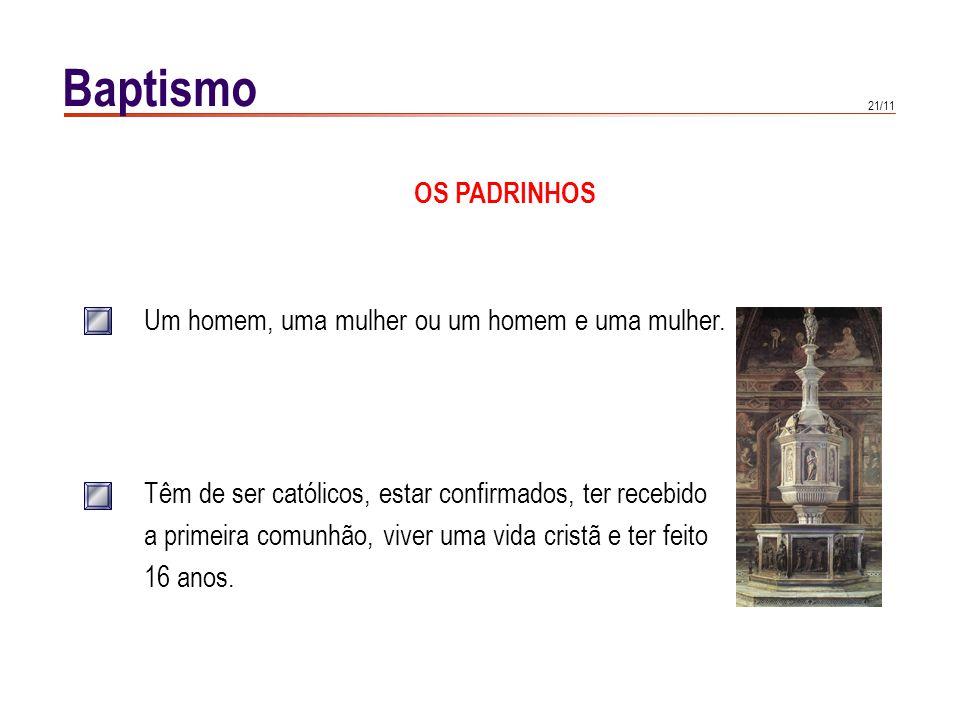 Baptismo MINISTRO DO BAPTISMO
