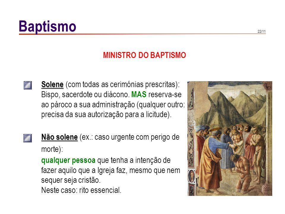 Baptismo SUJEITO. Sujeito capaz de o receber: todo e só o homem ainda não baptizado (CIC 864) Adultos: intenção pelo menos habitual de o.