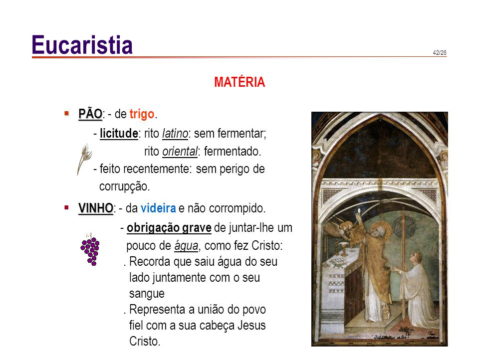 Eucaristia SACRIFÍCIO DA MISSA, 1