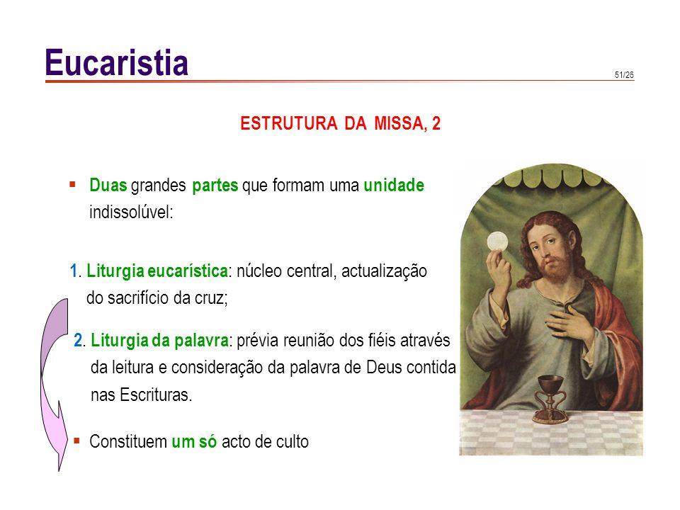 Eucaristia ORAÇÕES EUCARÍSTICAS, 1 Elementos que nunca faltam :