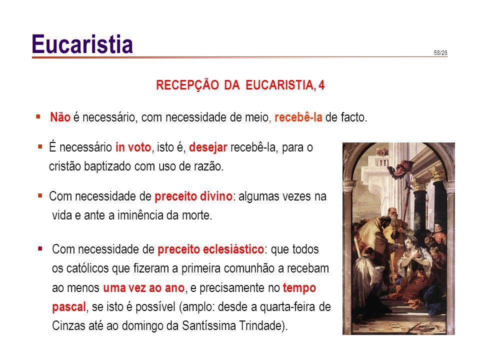 RECEPÇÃO DA EUCARISTIA, 5