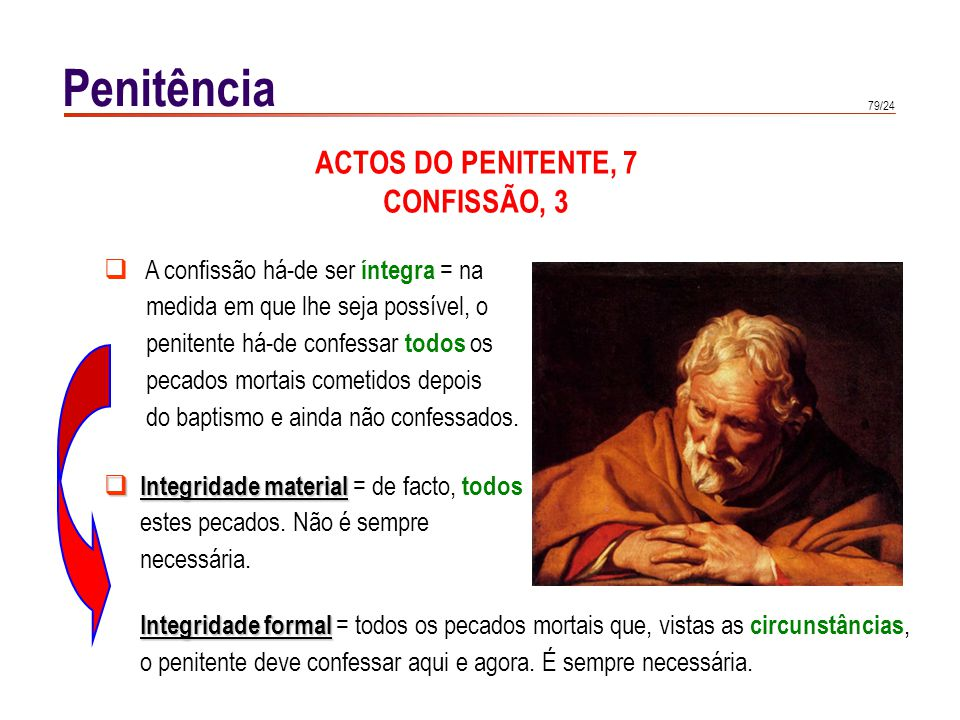 Penitência ACTOS DO PENITENTE, 8 CONFISSÃO, 4