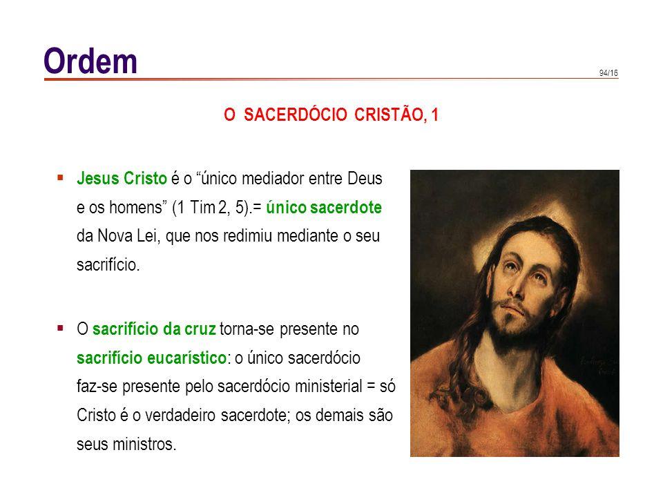 Ordem O SACERDÓCIO CRISTÃO, 2