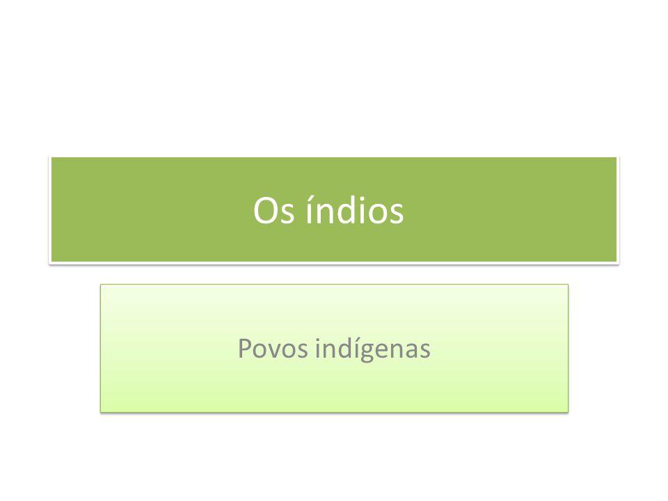 Os índios Povos indígenas