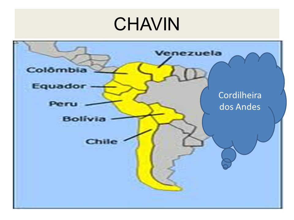 CHAVIN Cordilheira dos Andes