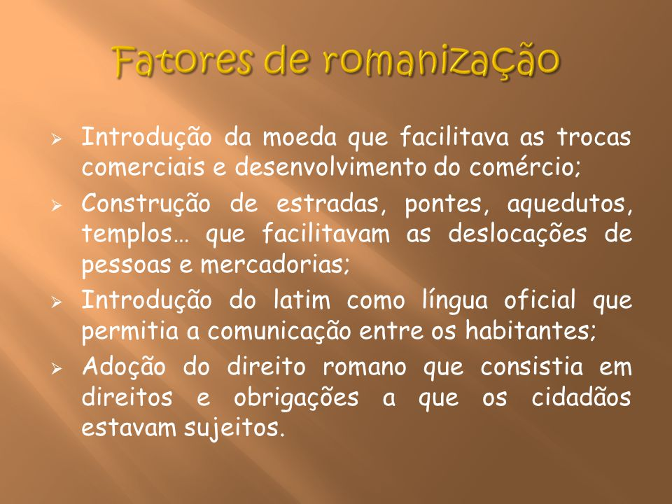 Fatores de romanização