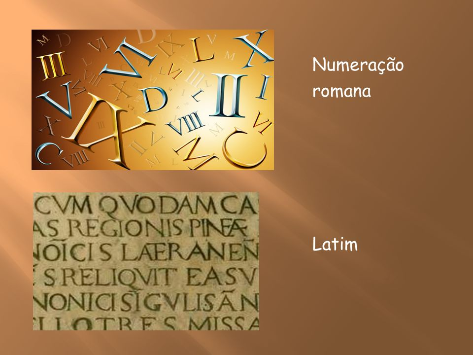 Numeração romana Latim