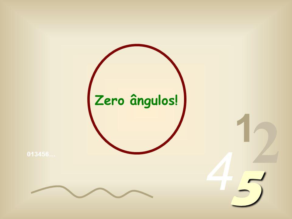 Zero ângulos! 1 2 4 013456… 5