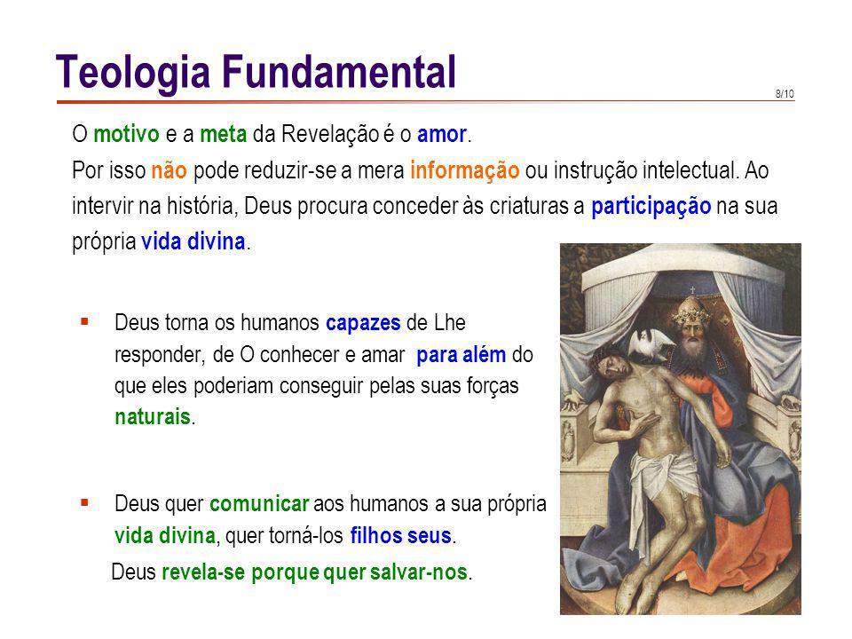 Teologia Fundamental A salvação é a finalidade da