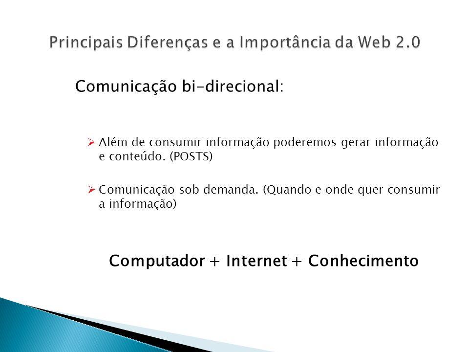 Principais Diferenças e a Importância da Web 2.0