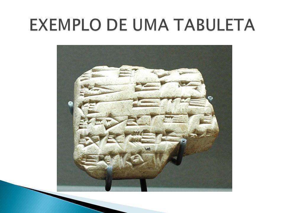 EXEMPLO DE UMA TABULETA