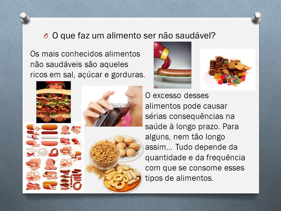O que faz um alimento ser não saudável