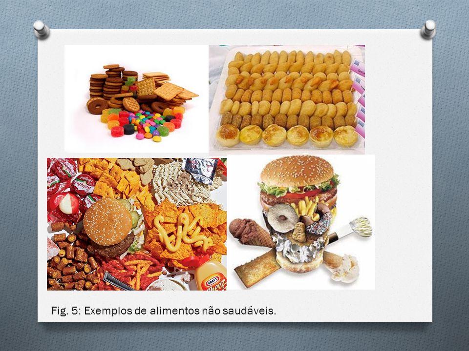 Fig. 5: Exemplos de alimentos não saudáveis.