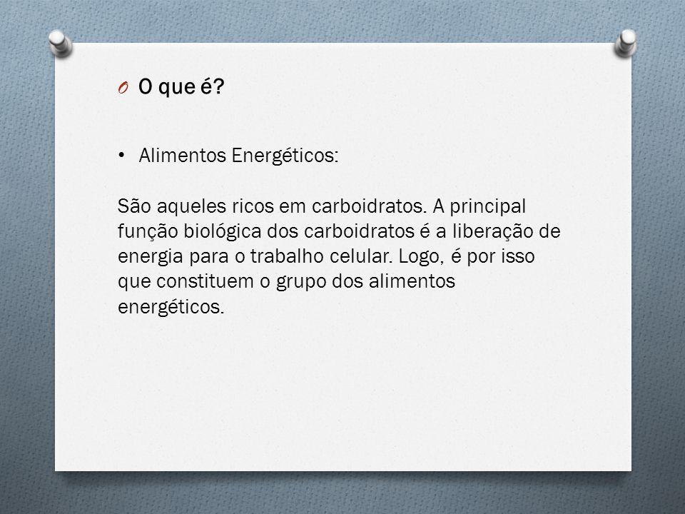 O que é Alimentos Energéticos: