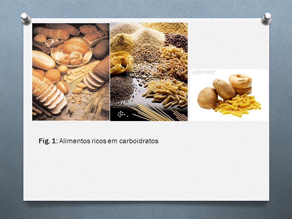 Fig. 1: Alimentos ricos em carboidratos
